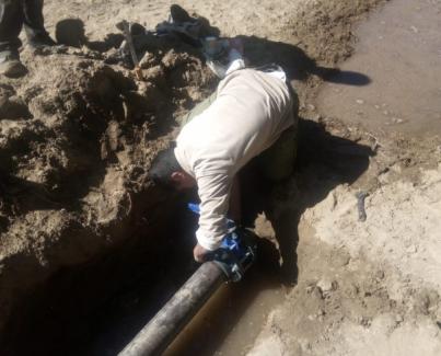 Mejoras en el sistema de agua de Encalilla