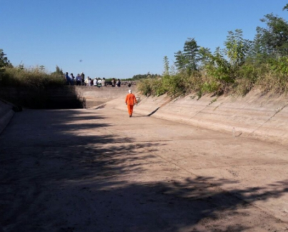 Limpieza y reparación del Canal matriz La Aguadita