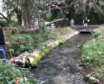 Se realizó el relevamiento del canal matriz  en la localidad de Choromoro - Distrito 1