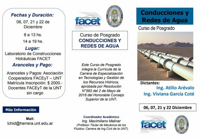 Curso de Posgrado Conducciones y Redes de Agua